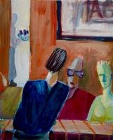 Katherine Boucher Beug, Cafe ll, acrylic on paper, 20.5 x 23.5, 2016