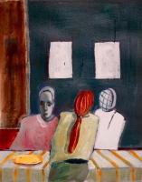 Katherine Boucher Beug, Cafe VlI, acrylic on paper, 20.5 x 23.5, 2016
