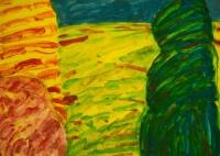 William Crozier, Landscape (West Cork), watercolour, 32 x 45 cm,