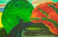 William Crozier, Untitled Landscape, watercolour, 21.5 x 33 cm, 1989
