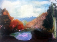 Jonathan Hunter, Caldera, oil on canvas, 60 x 80, 2016