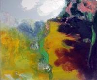 Jonathan Hunter, Incline, oil on canvas, 50 x 60 cm, 2016