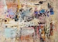 John Kingerlee, Gentle, Final, collage & oil on paper, 31.5 x 42 cm, 2016, framed