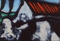 Hughie O'Donoghue, Animal Farm, carborundum print, 42 x 62.5 cm cropped