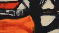Hughie O'Donoghue, Around The House, carborundum print, 35 x 62.5 cm, 2015