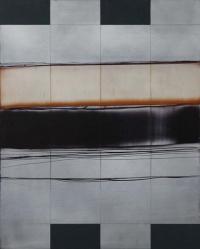 Charles Tyrell, A25.15, oil on aluminium, 50 x 40 cm. 2015