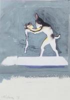 Janet Mullarney, St. Anthony's Rabbit, ink & acrylic on photographic paper, 16.5 x 12 cm, 2015