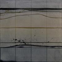 Charles Tyrrell, A2.14, oil on aluminium, 33.6 x 33.6 cm, 2014