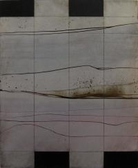 Charles Tyrrell, A4.14, oil on aluminium, 50 x 40 cm, 2014