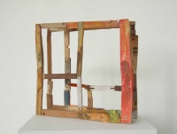 Helen O'Leary, Bone head, egg oil on constructed wood, 35.5 x 40 x 8.5 cm, 2013