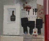 Katherine Boucher Beug, Poiesis, mixed media on canvas, 48 x 52 cm, 2014