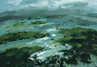 Avril Lyons, Clew Bay Series No. 14, acrylic on canvas panel, 22 x 30.5 cm, 2013, €1,200