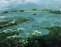 Avril Lyons, Clew Bay Series No. 2, acrylic on panel, 17 x 23 cm, 2013, SOLD