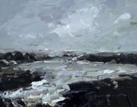 Avril Lyons, Storm Series No. 3, acrylic on panel, 17 x 23 cm, 2013 SOLD