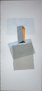 Katherine Boucher Beug, Balance III, watercolour on Fabriano paper, 56 x 26 cm, 2014, € 750