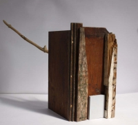 Katherine Boucher Beug, Tree House, wood & found materials, 39 x 20 x 20 cm, 2014, € 1,500