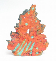 Cormac Boydell, Orange Skellig, handmade glazes on clay, 30 x 23 x 6 cm, 2010, SOLD