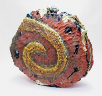 Cormac Boydell, Uisneach, handmade glazes on clay, 60 x 65 x 20 cm, 2006, SOLD