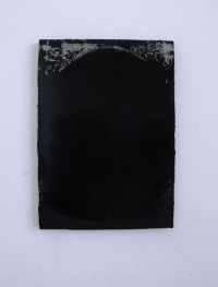 Michael Canning, First Black Mirror, oil on gessoed wood panel, 70 x 50 cm, 2012