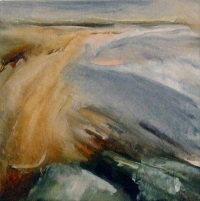 Mary Canty, Cliff Top View, oil on canvas, 24 x 24 cm, 2014, SOLD