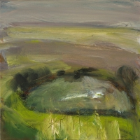 Mary Canty, Ring Fort, oil on canvas, 40 x 40 cm, 2008, SOLD
