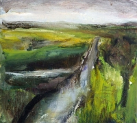 Mary Canty, Abhainn na Mhuaidhe--The River Moy, oil on canvas, 39 x 43 cm, 2013, €1,650