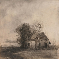 Michael Wann, international, charcoal & wash on canvas, 40 x 40, 2012 SOLD