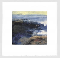 Fractured Shoreline III, carborundum & intaglio print, plate 42 x 44 cm, edition of 75, framed