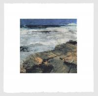 Fractured Shoreline IV, carborundum & intaglio print, plate 42 x 44 cm, edition of 75, framed