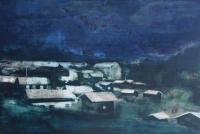 Cara Thorpe, Night Watch, acrylic on board, 31 x 21 cm
