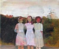 """Oonagh Hurley, 1950 cousins, acrylic on canvas, 20 x 24"""", 2015"""