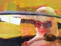 Oonagh Hurley, Rear View, acrylic on canvas, 2015