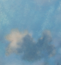 Tim Goulding, Single Cloud 3, 30.5 x 30.5 cm, acrylic on paper, € 1,550