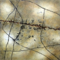 Tim Goulding, Wabi Sabi 8, acrylic on canvas, 16 x 16 inches, 2007, SOLD