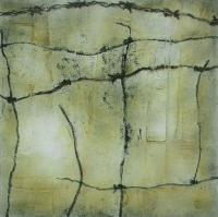 Tim Goulding, Wabi Sabi 6, acrylic on canvas, 16 x 16 inches, 2007, SOLD
