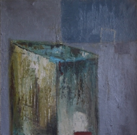 Carol Hodder <i>Box iii</i>, oil on canvas, 60 x 60 cm, 2011, SOLD
