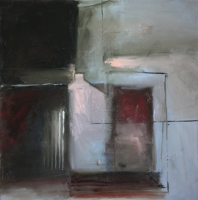 Carol Hodder <i>Box</i>, oil on canvas, 60 x 60 cm, 2011, SOLD