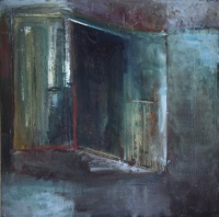 Carol Hodder <i>Narnia Box</i>, oil on canvas, 60 x 60 cm, 2011, SOLD