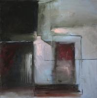 Carol Hodder <i>Box</i>, oil on canvas, 60 x 60 cm, 2011, SOLD