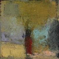 Carol Hodder, Locum memoriae ii, oil on canvas, 40 x 40 cm, 2013, SOLD
