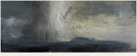 Carol Hodder, stormlands v, oil on canvas, 30 x 75 cm, 2013, SOLD
