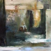 Carol Hodder, Dereliction, oil on canvas, 90 x 90 cm, 2010, SOLD