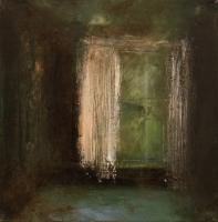 Carol Hodder, Window, oil on canvas, 40 x 40 cm, 2008, SOLD