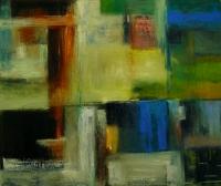 Carol Hodder, Landmarks, oil on canvas 122 x 142 cm, 2005, SOLD