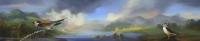 Gail Boyajian, Romantic Landscape Triptych, part C