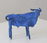 Janet Mullarney, Blue Cow gallery, bronze with blue patination, 9.5 x 13 x 5 cm,2008
