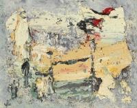 John Kingerlee, Kilcatherine Landscape, oil on board, 17 x 40 cm, 2009, € 6,000