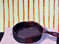 Katherine Boucher Beug, Frying Pan, acrylic on paper, 25 x 33 cm, €1,500