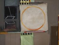 Katherine Boucher Beug, Circus I, mixed media on canvas, 2013