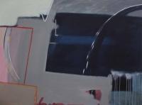 Katherine Boucher Beug, Round, Round and Under, mixed media on canvas